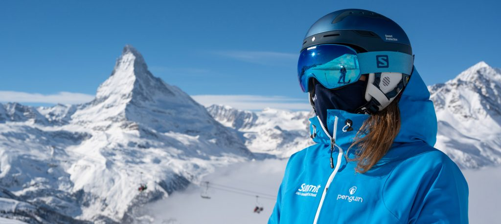 Covid mask for skiing